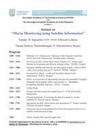 """Seminar on """"Marin Monitoring using Satellite Information"""""""